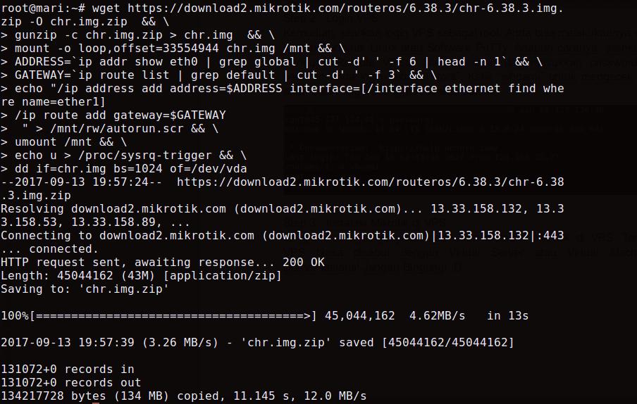 Install Mikrotik di Ubuntu